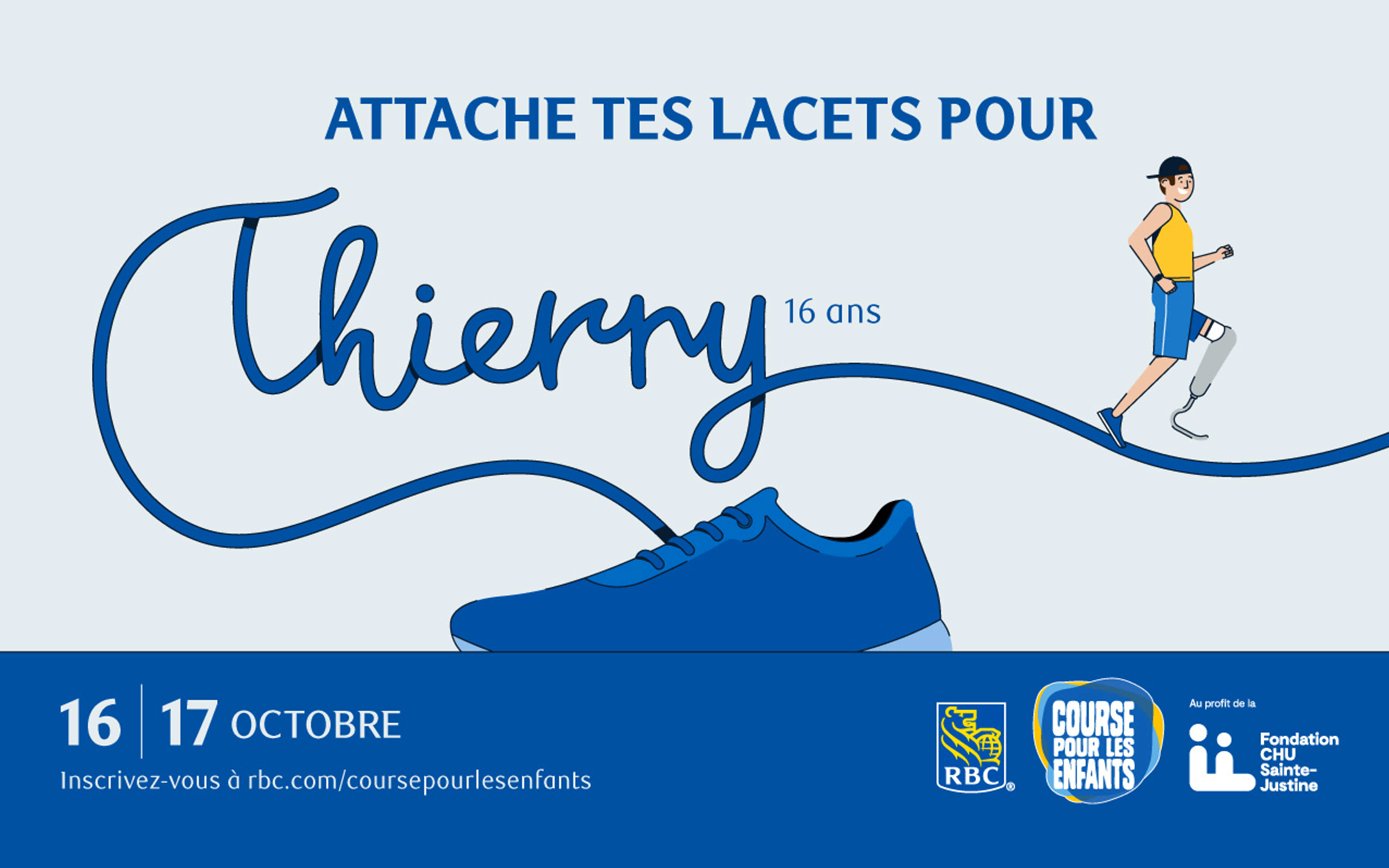 Attache tes lacets thierry course rbc