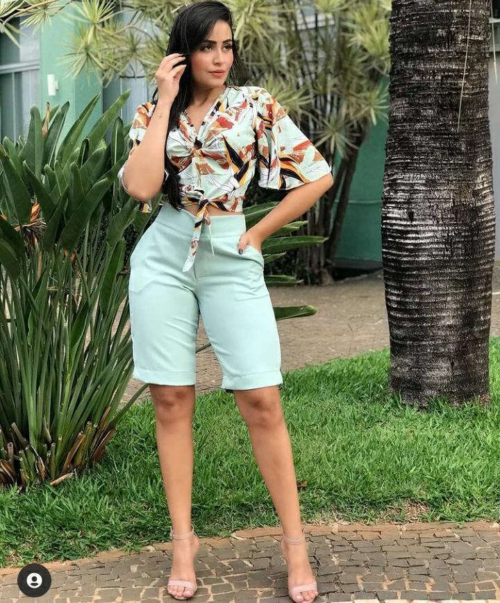 Bermuda gudinne moda feminina