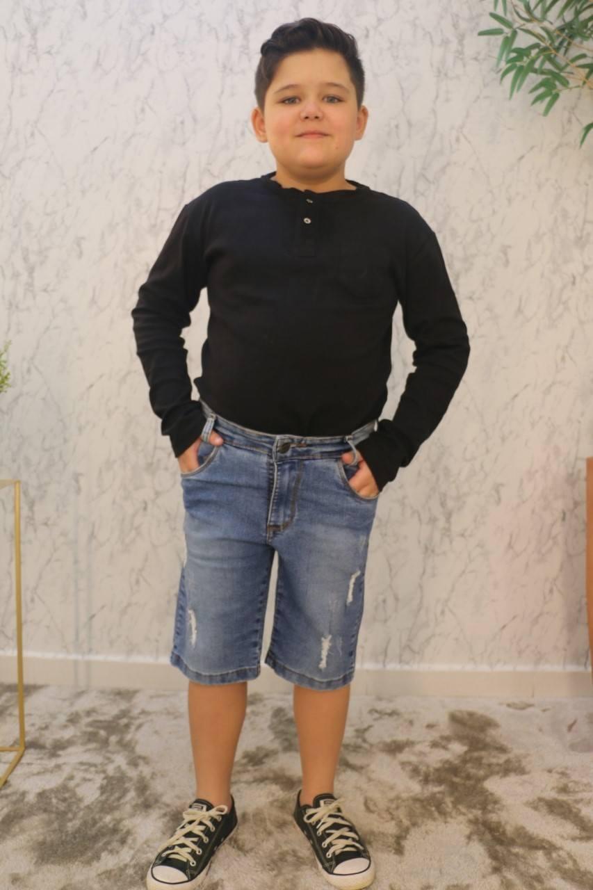 Bermuda Básica Jeans Claro Boopy Store
