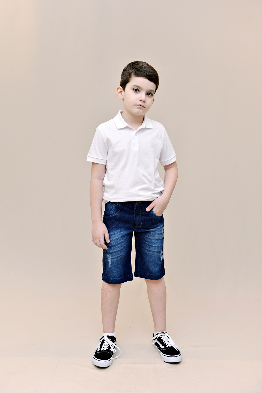 Bermuda Jeans Infantil - Pimbolim Jeans.