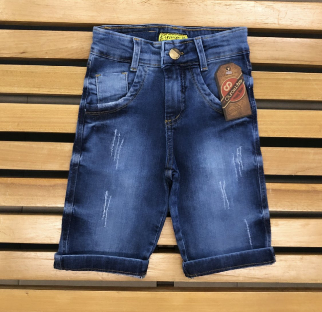 Bermuda Masculina Infantil Circuito Jeans