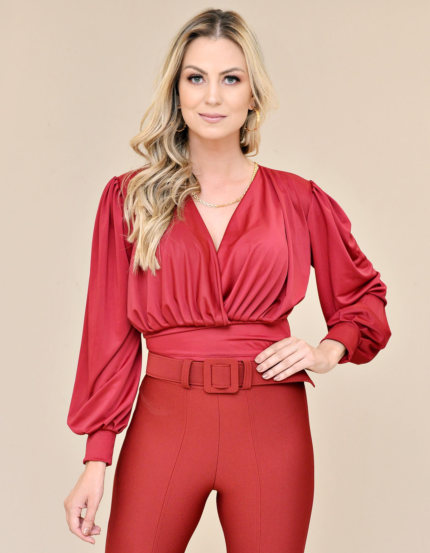 Blusa Decote em V - Bullgary Modas