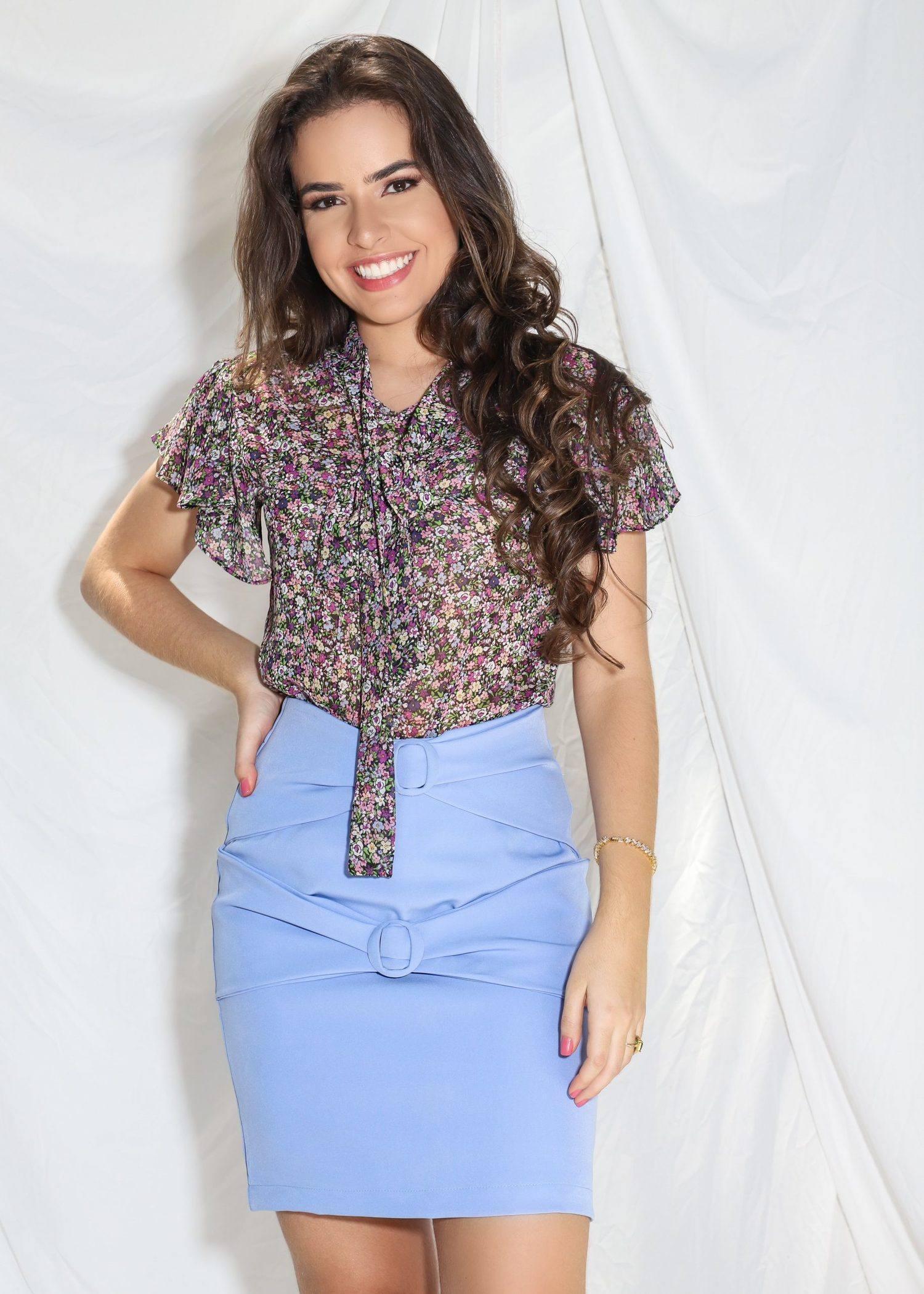 Blusa Larimar - Cleo Rocha