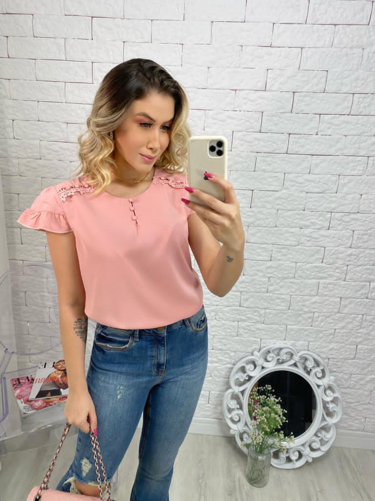 Blusa manguinha-Gabriella.com