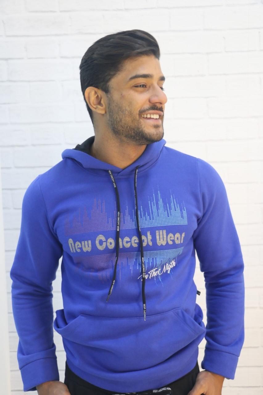 Blusa Moletom Azul New Concept Wear