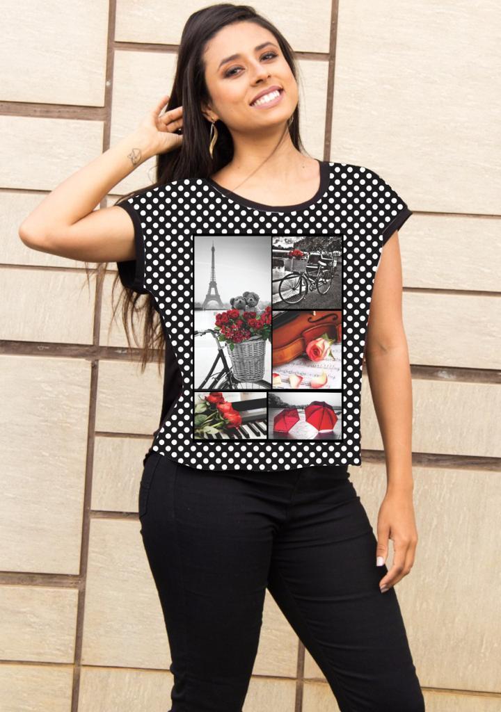 Blusa Plus Size Paris D'Minas