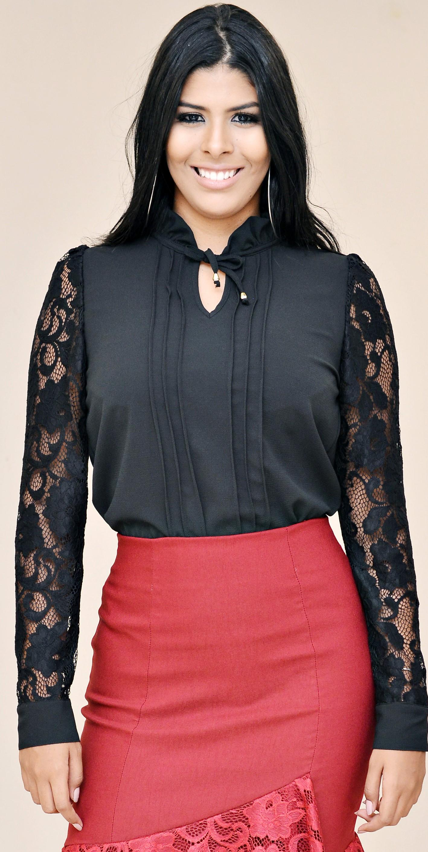 Blusa Preta - Elegance