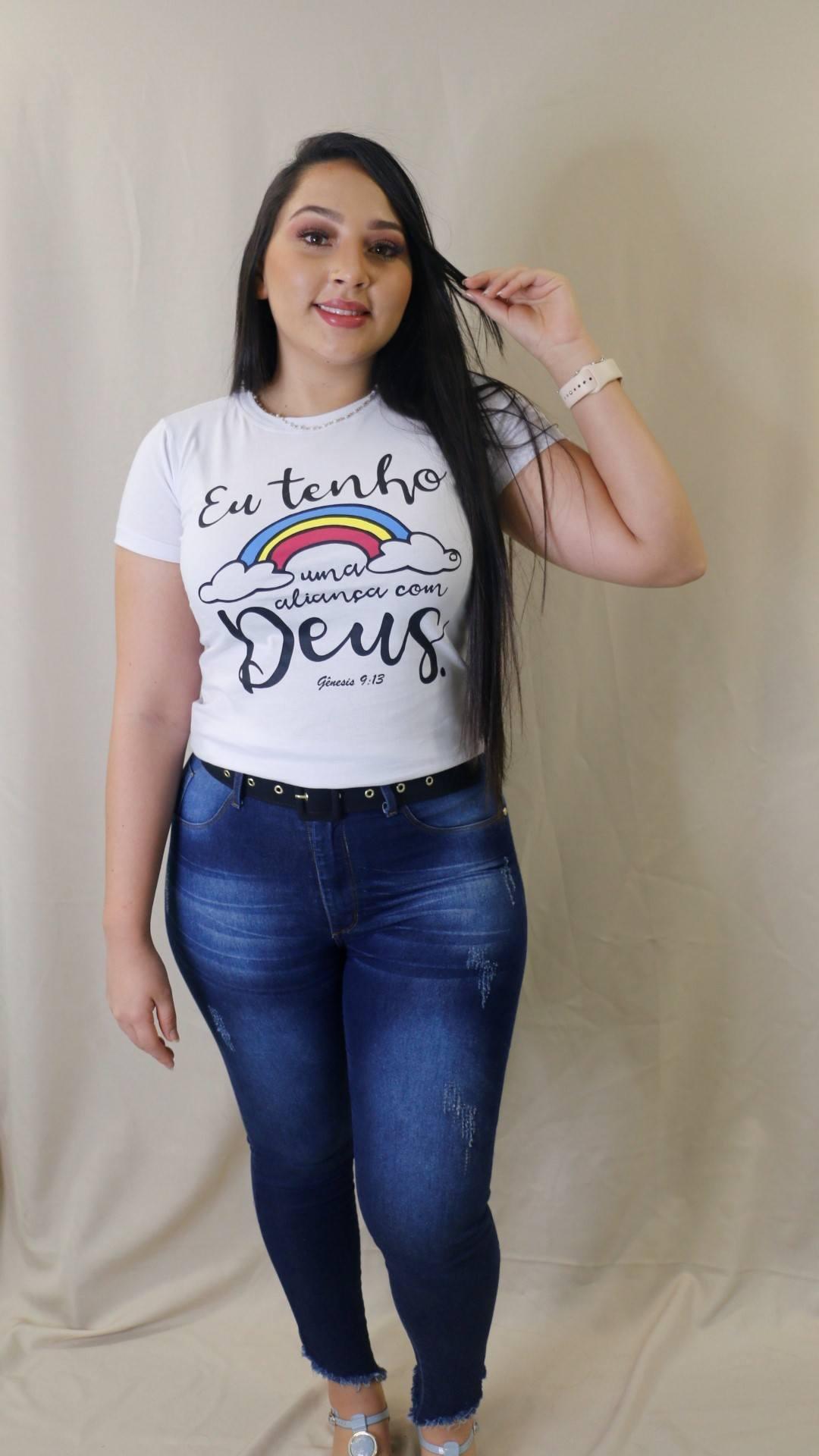 Blusa T-Shirt Branca Frase Trielas