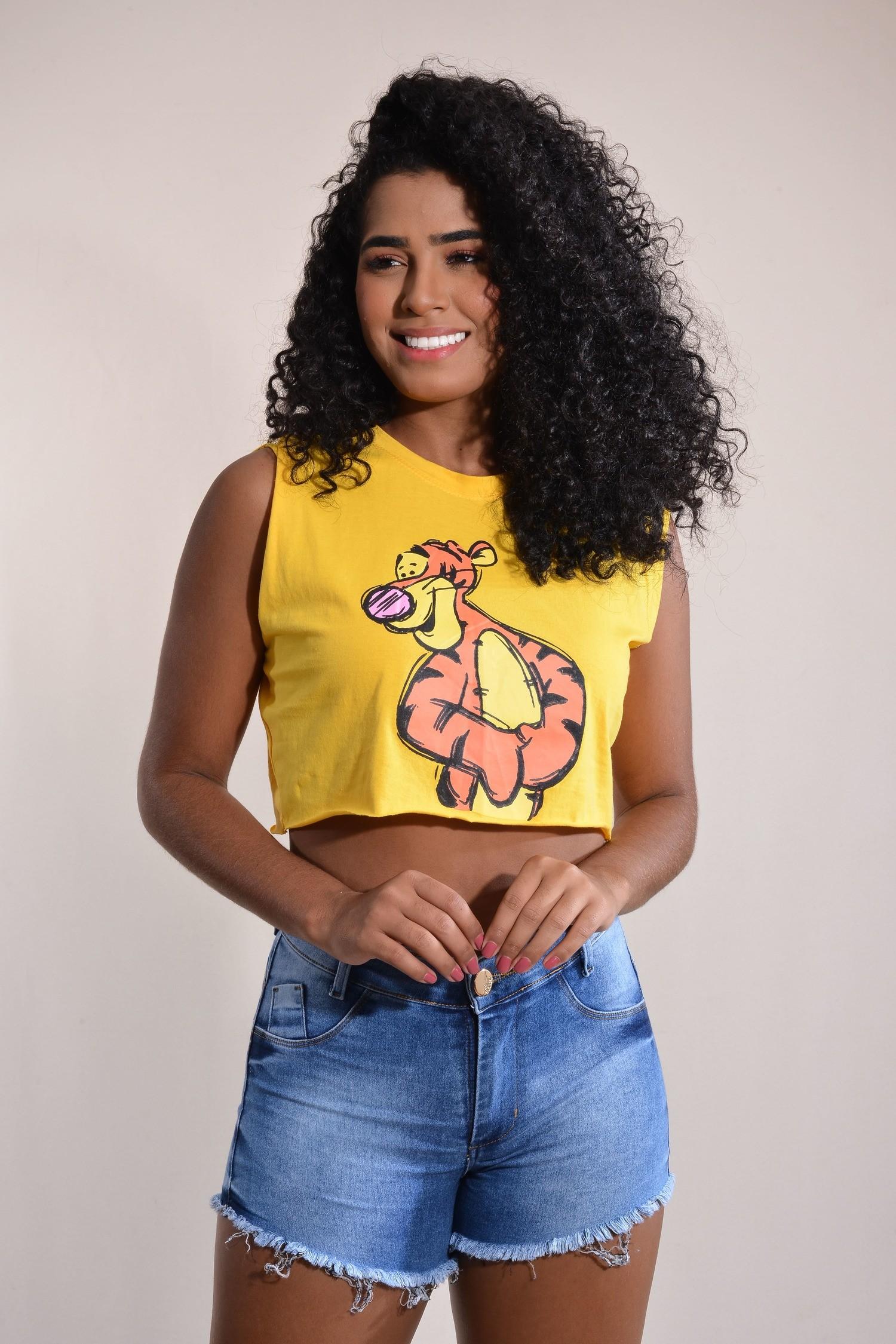 Blusa T-shirt Cropped Tigrão Donna Chick