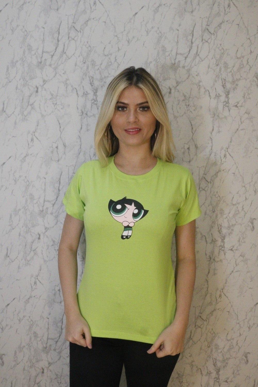 Blusa T-Shirt Verde Estampa Meninas Super Poderosas Trielas