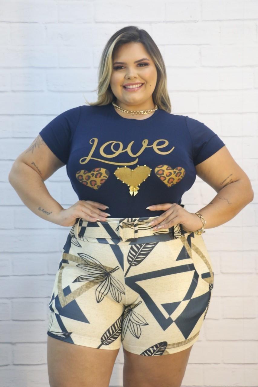 Blusa T-shirt Anjo Azul