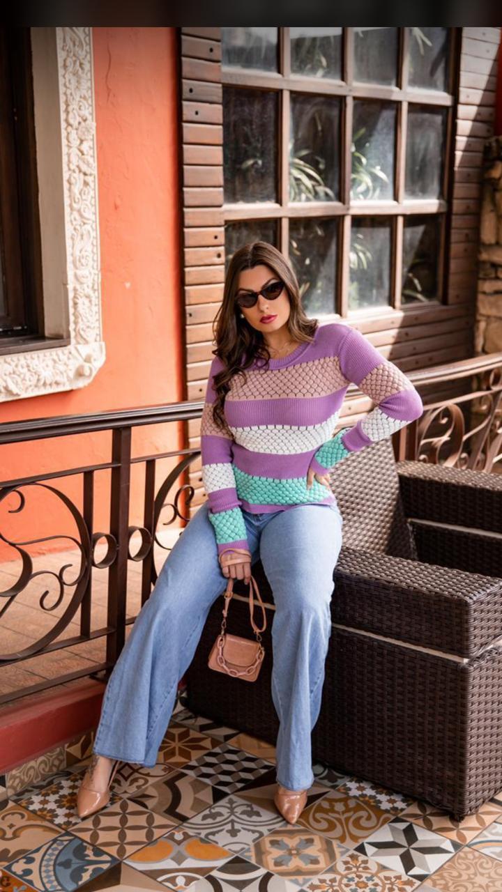 Blusa tricot 3D - Diva Fashion GYN