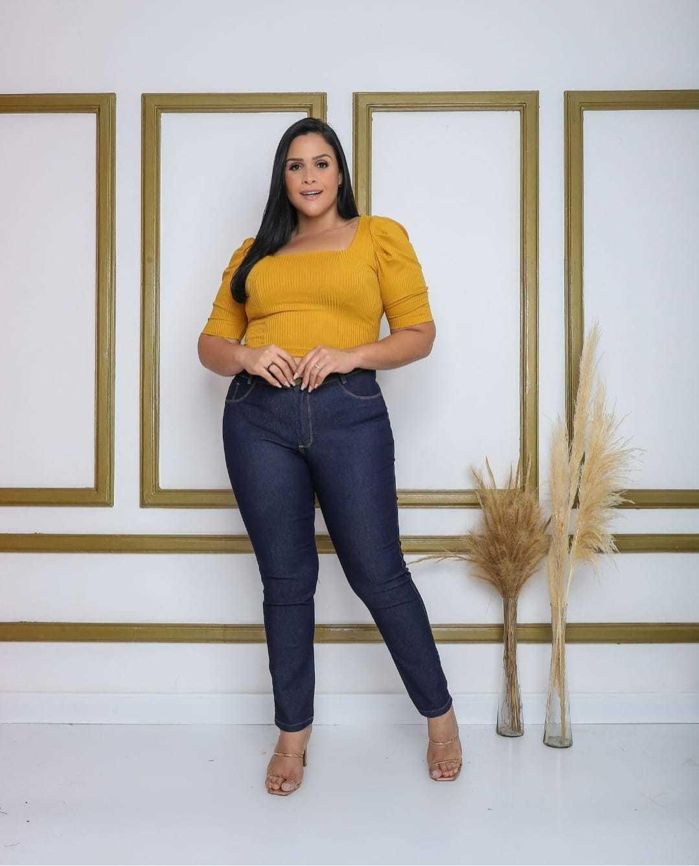 Calça Jeans Amaciada Plus Size Infinity Brasil