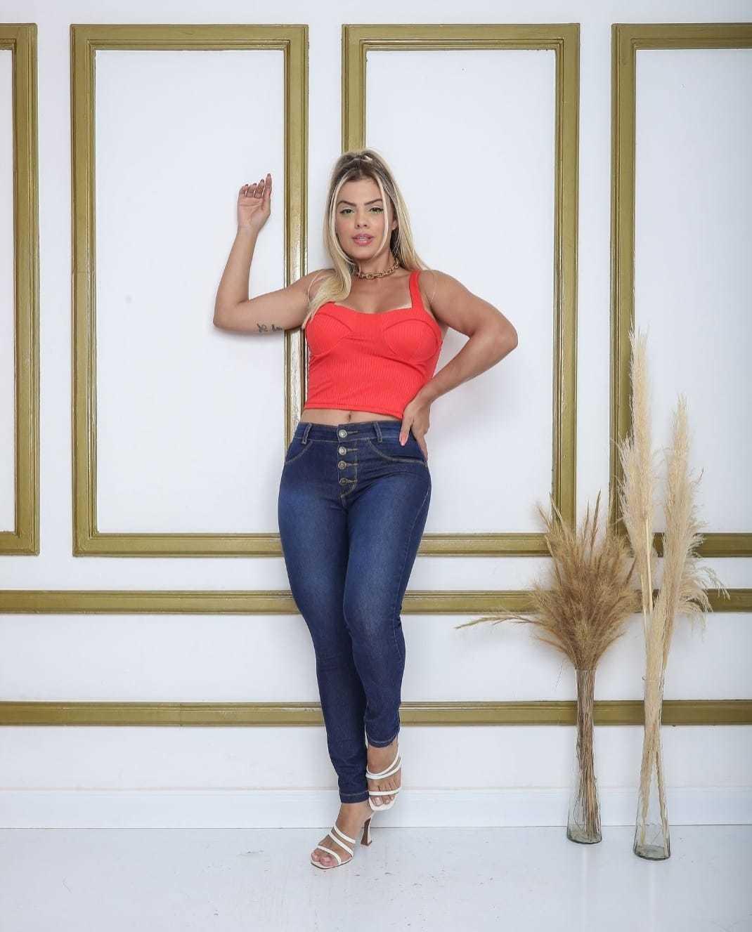 Calça Jeans com 4 Botões e Amaciada Infinity Brasil