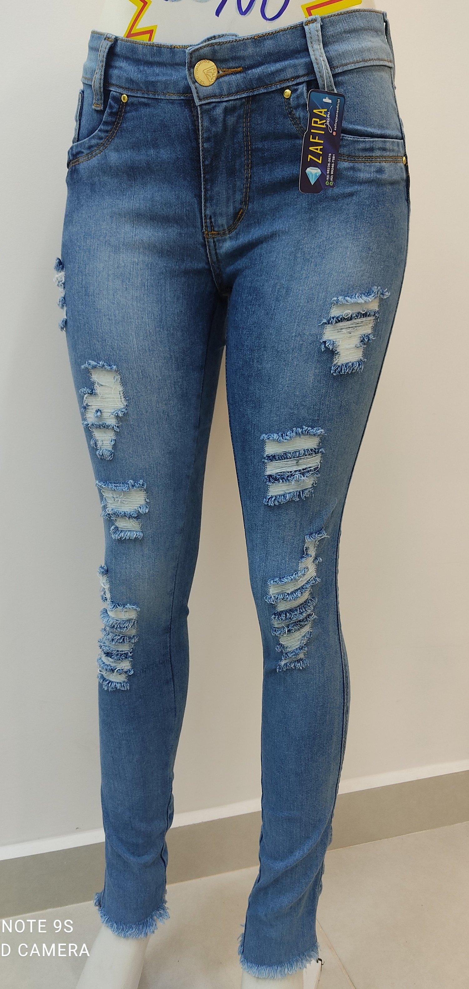 Calça jeans com pinça Zafira jeans