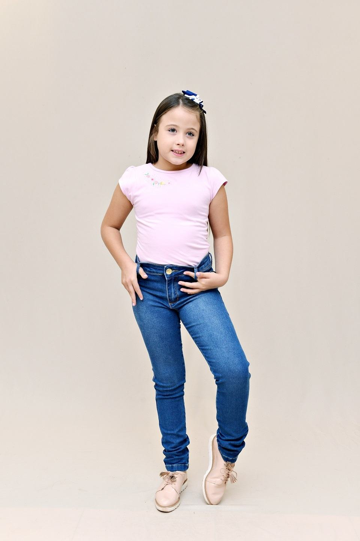 Calça Jeans Infantil - Feminina - Pimbolim.