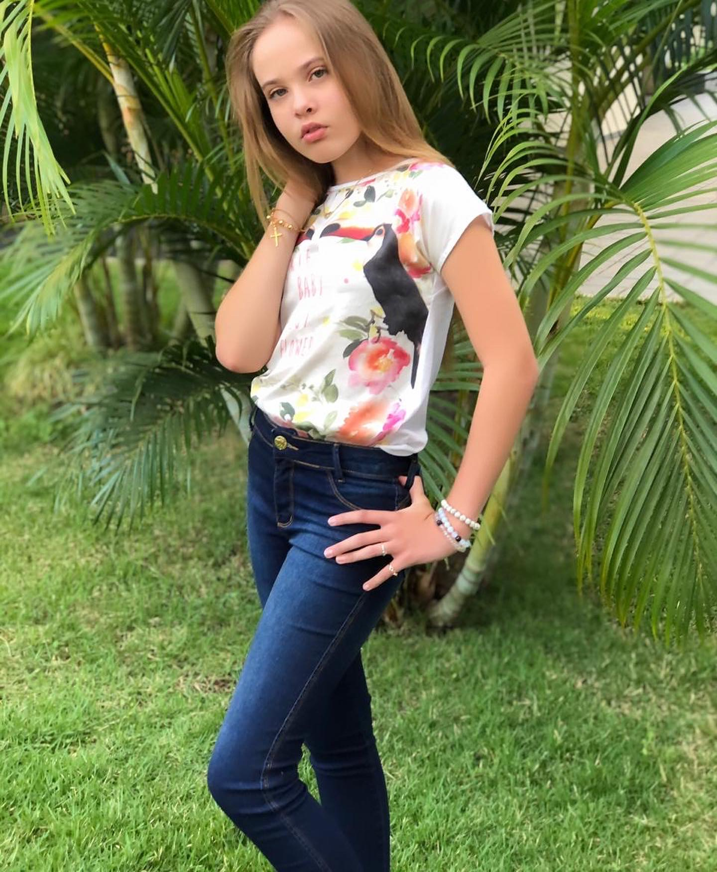 Calça Jeans Infantil -  Feminina - Slim - Pimbolim.