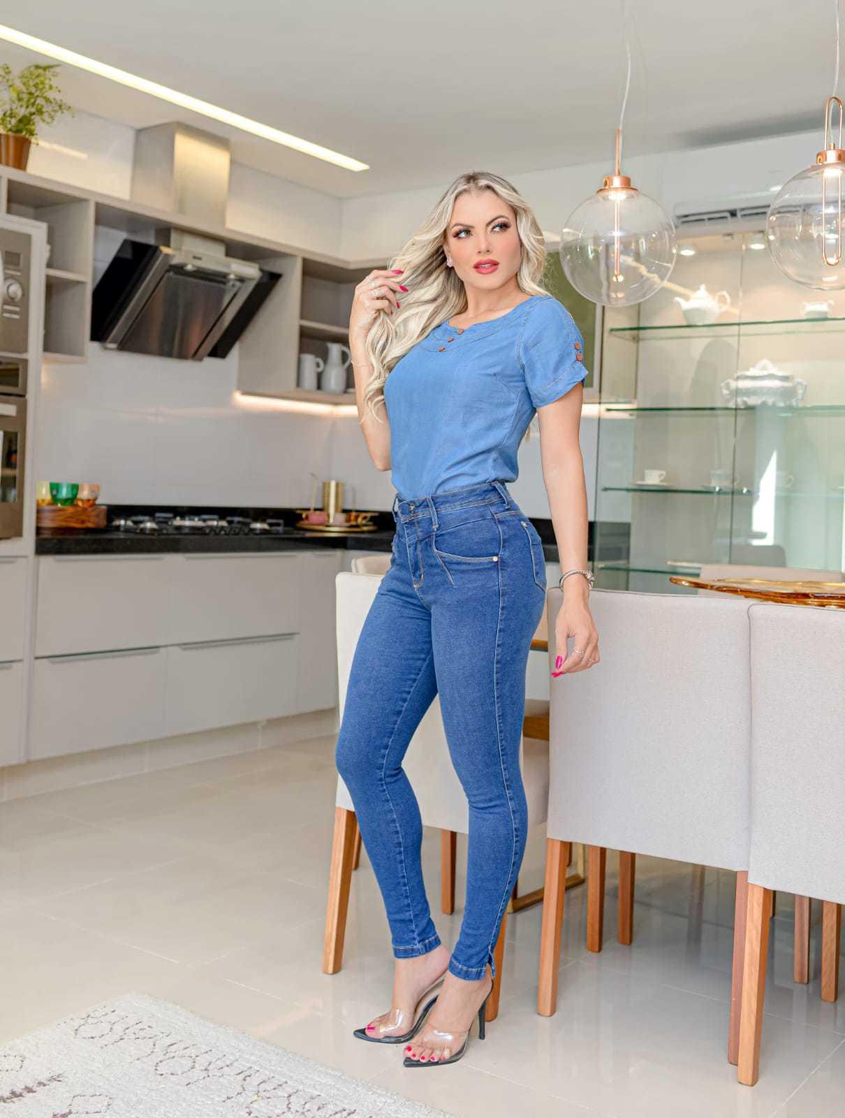 Calça Jeans Skinny com Elastano Omni Vinci