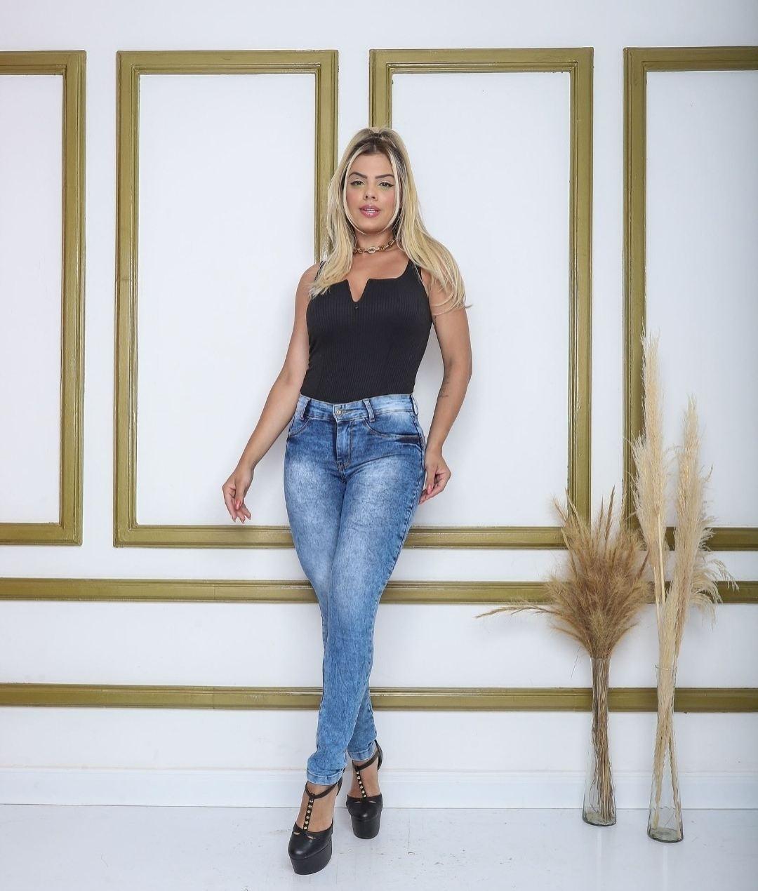 Calça Jeans Tradicional Marmorizada Infinity Brasil