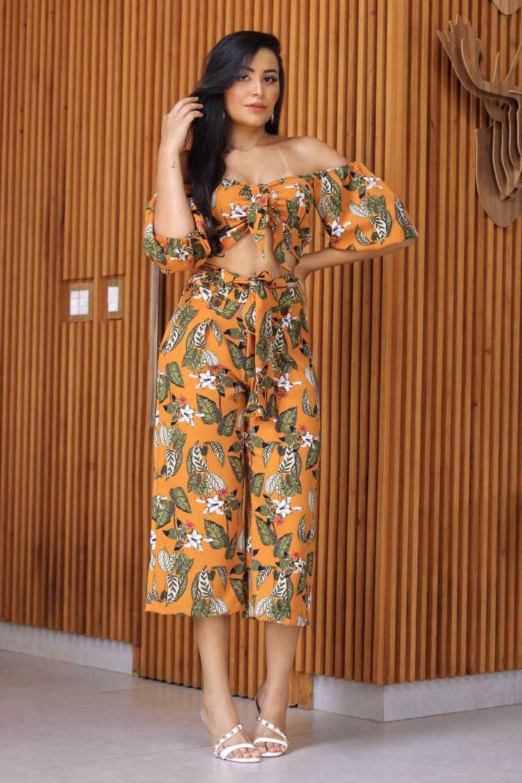 Calça pantacourt Gudinne Moda feminina