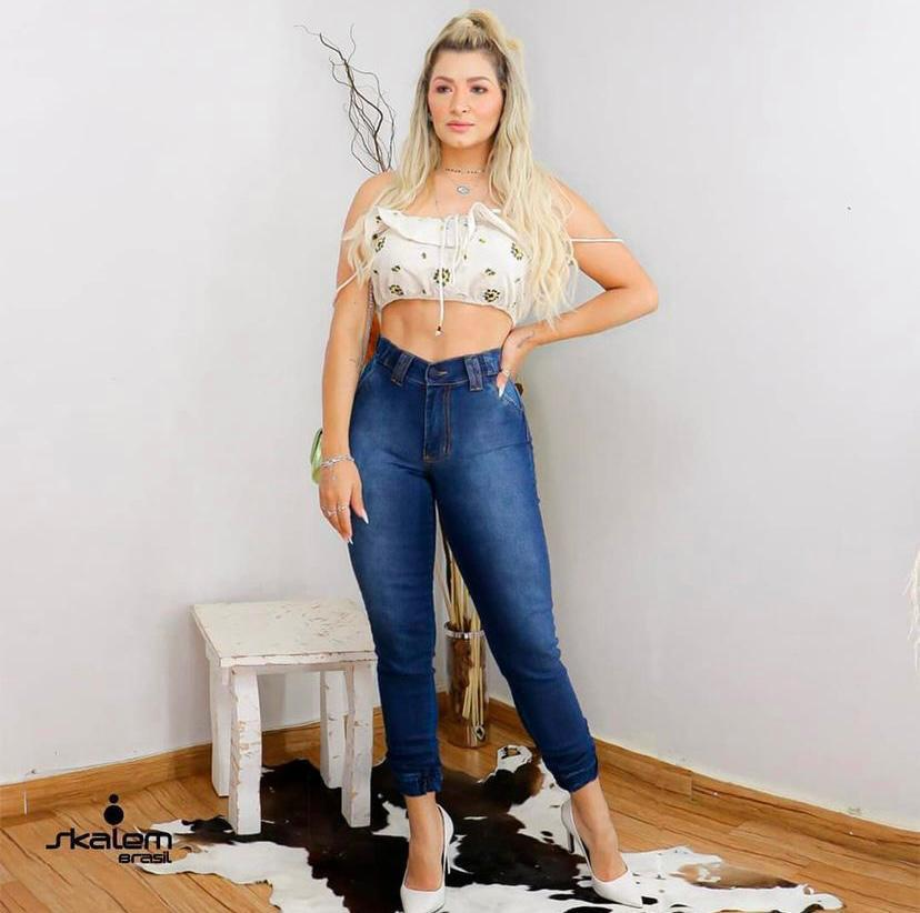Calça Jeans Jogger Skalem Brasil