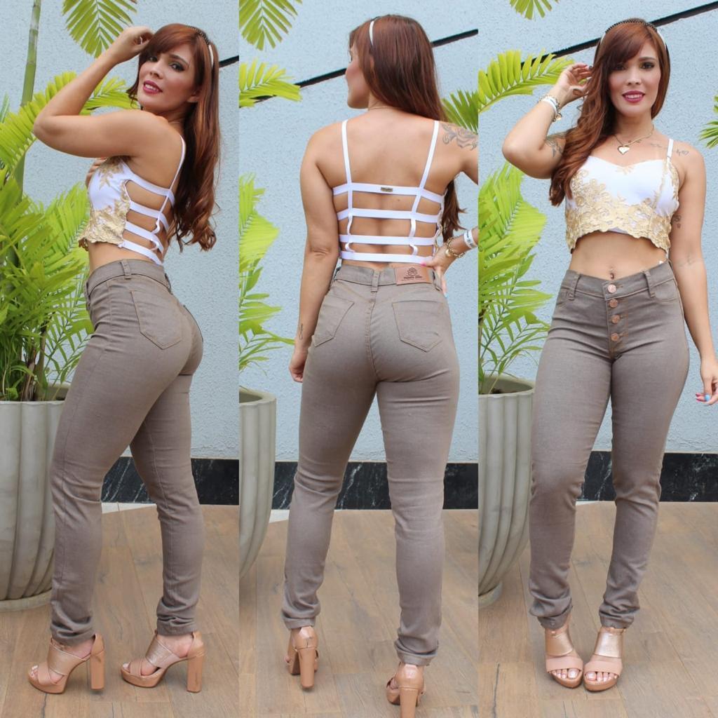 Calça Skinny Bege West South Jeans