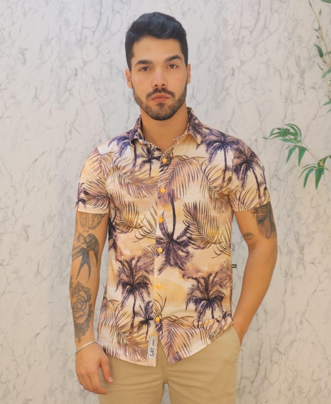 Camisa Florida Manga Curta LAF