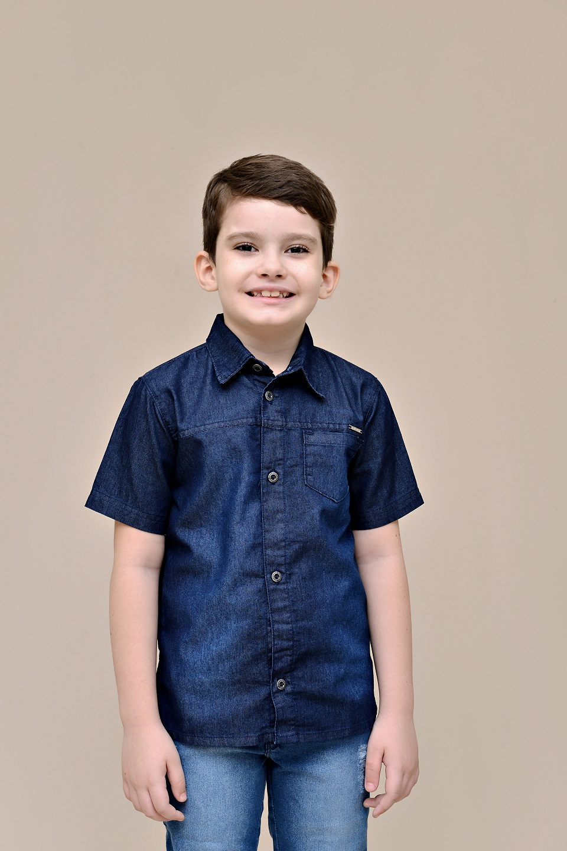 Camisa Jeans Infantil Pimbolim