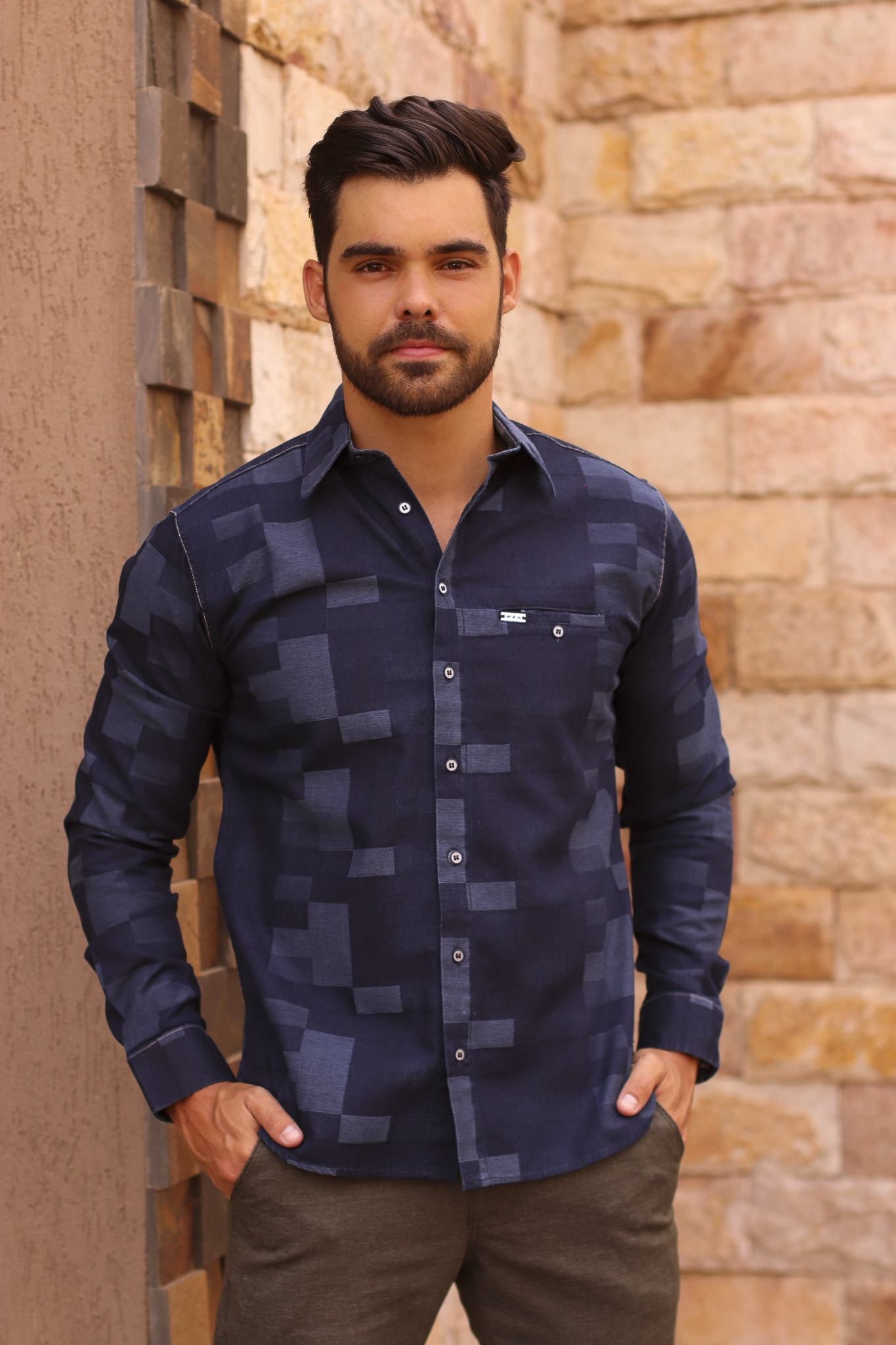 Camisa jeans-kza camisetes