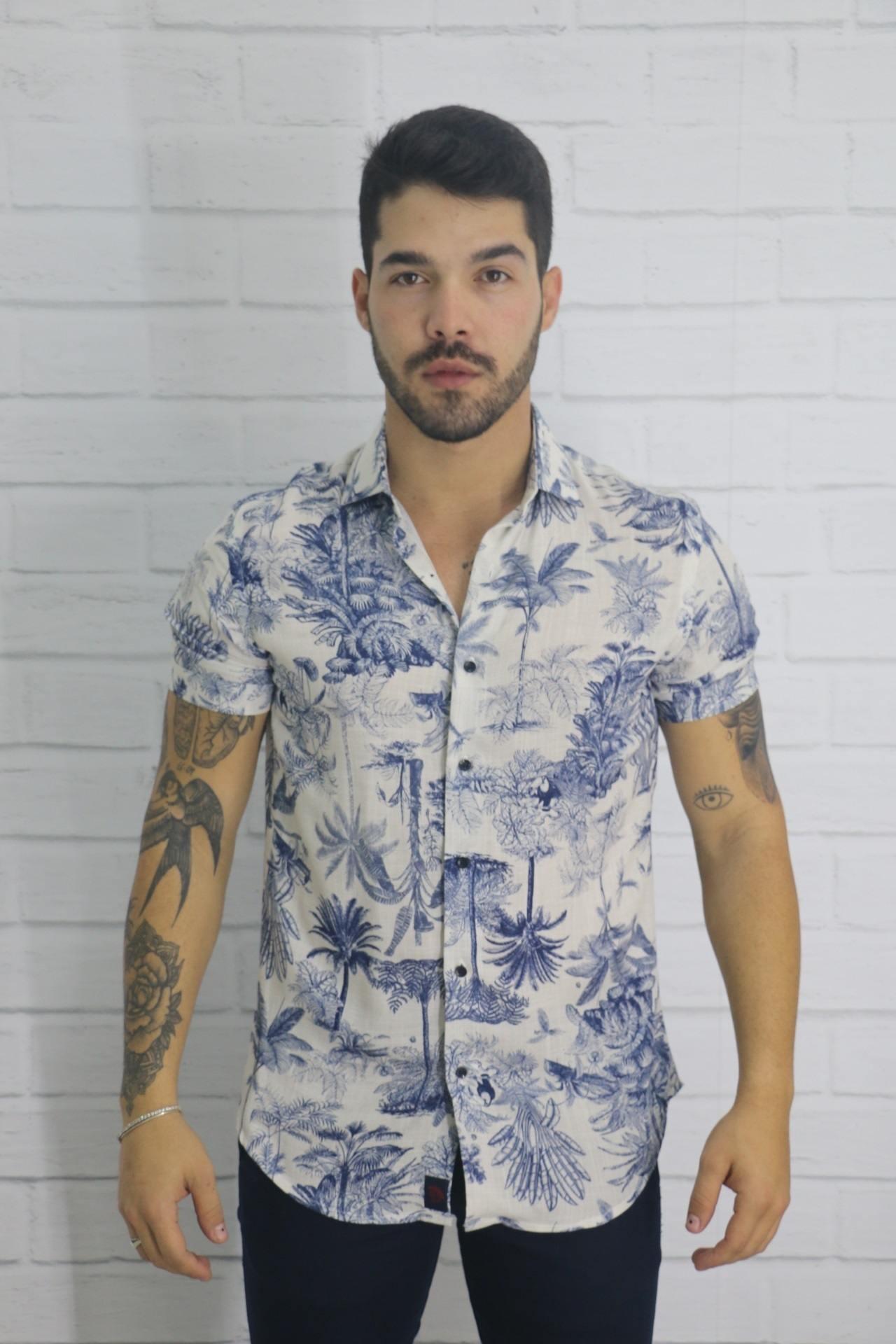 Camisa Manga Curta Floresta Vicenza