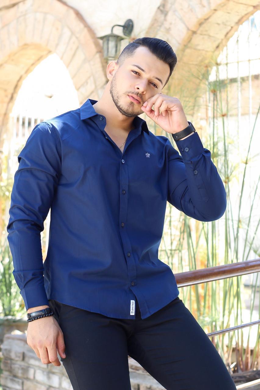 Camisa manga longa Azul Marinho - JOHN FHILD
