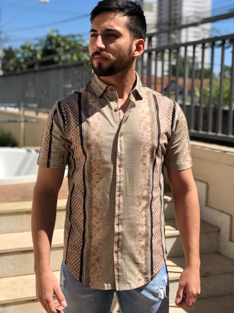 Camisa Estampada Manga Curta Often