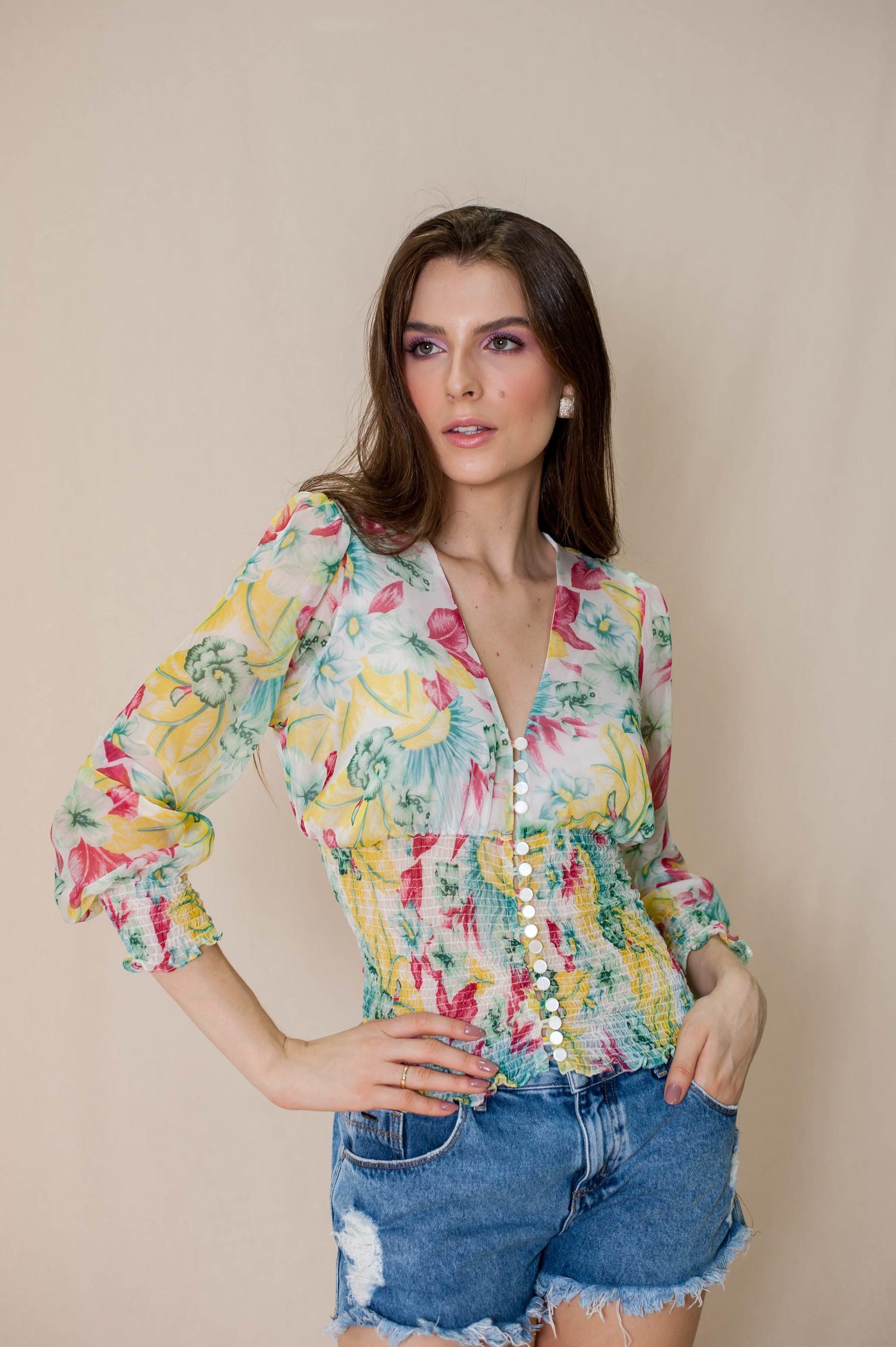 Camisa seda - Luana Costa