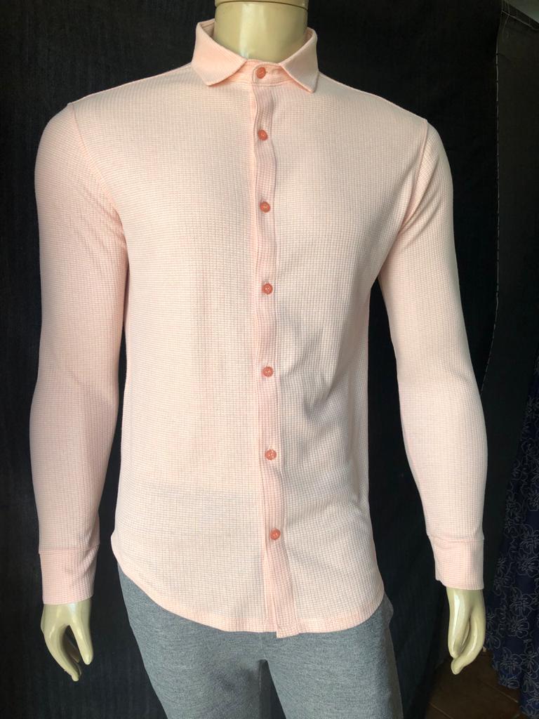 Camisa Manga Longa Rosa Claro Often