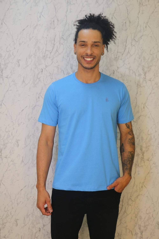 Camiseta Básica Azul Burguês