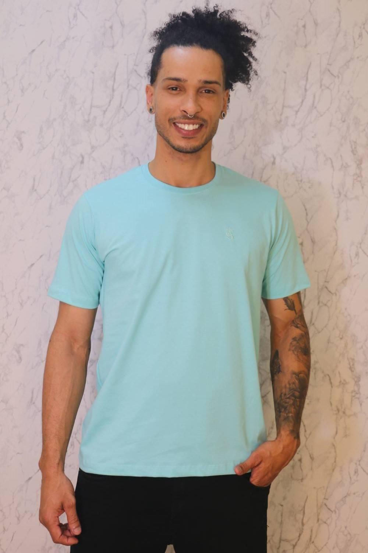 Camiseta Básica Verde Água Burguês