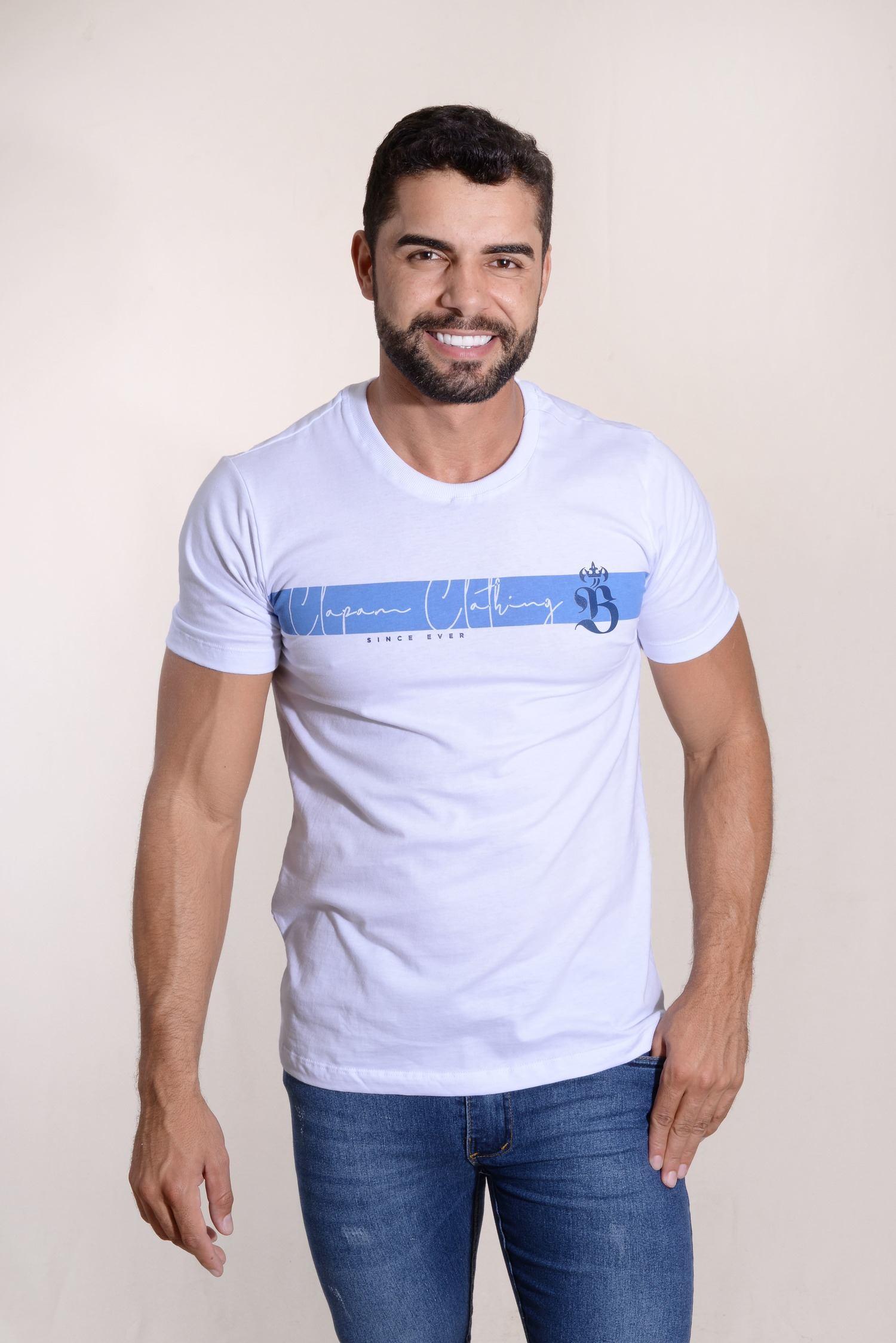 Camiseta Champions Clothing 100% Algodão Silk Relevo Burguês