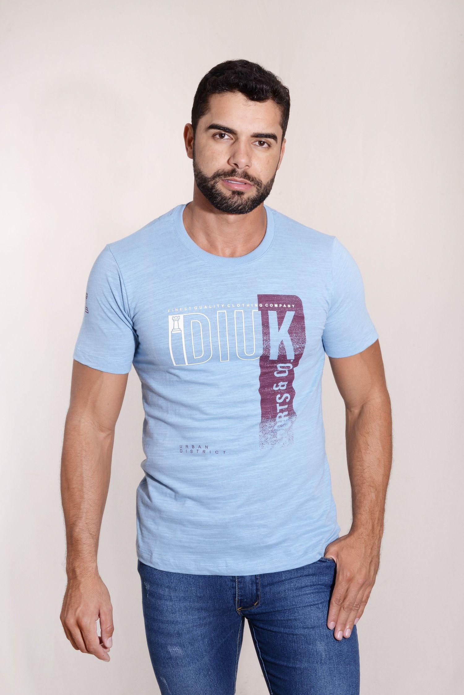 Camiseta Diuk Malha Flame 100% Algodão Burguês