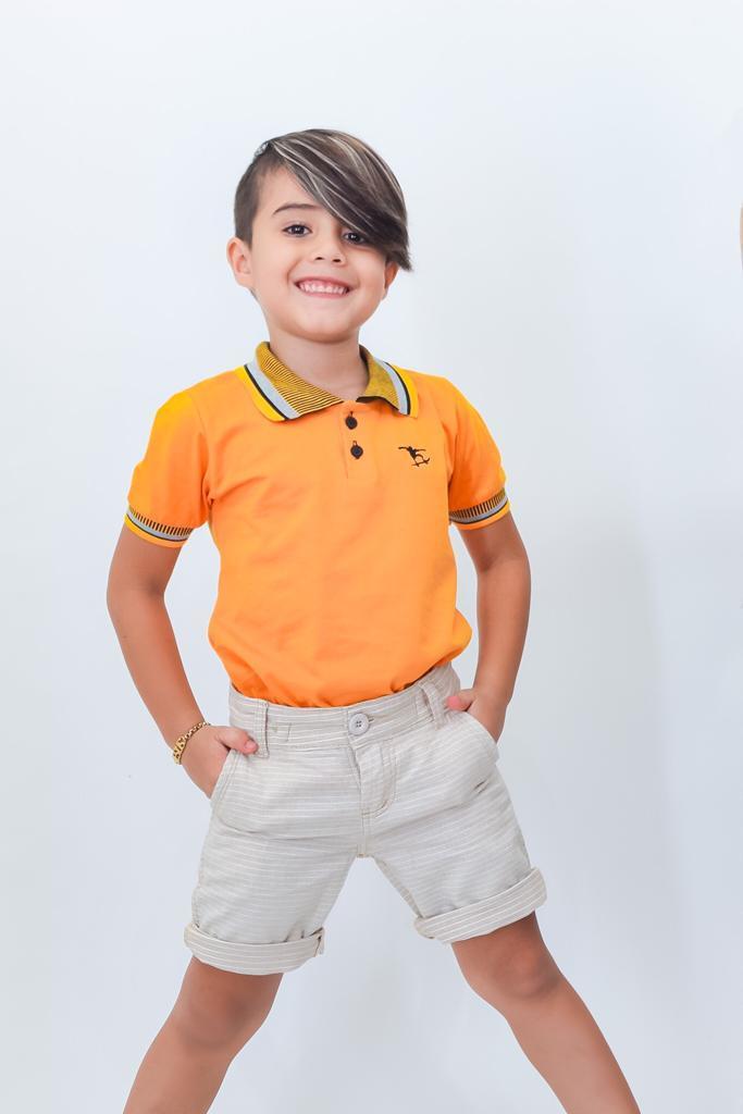 Camiseta Gola Polo Infantil 100% Algodão Fio 30 Radicais Teen