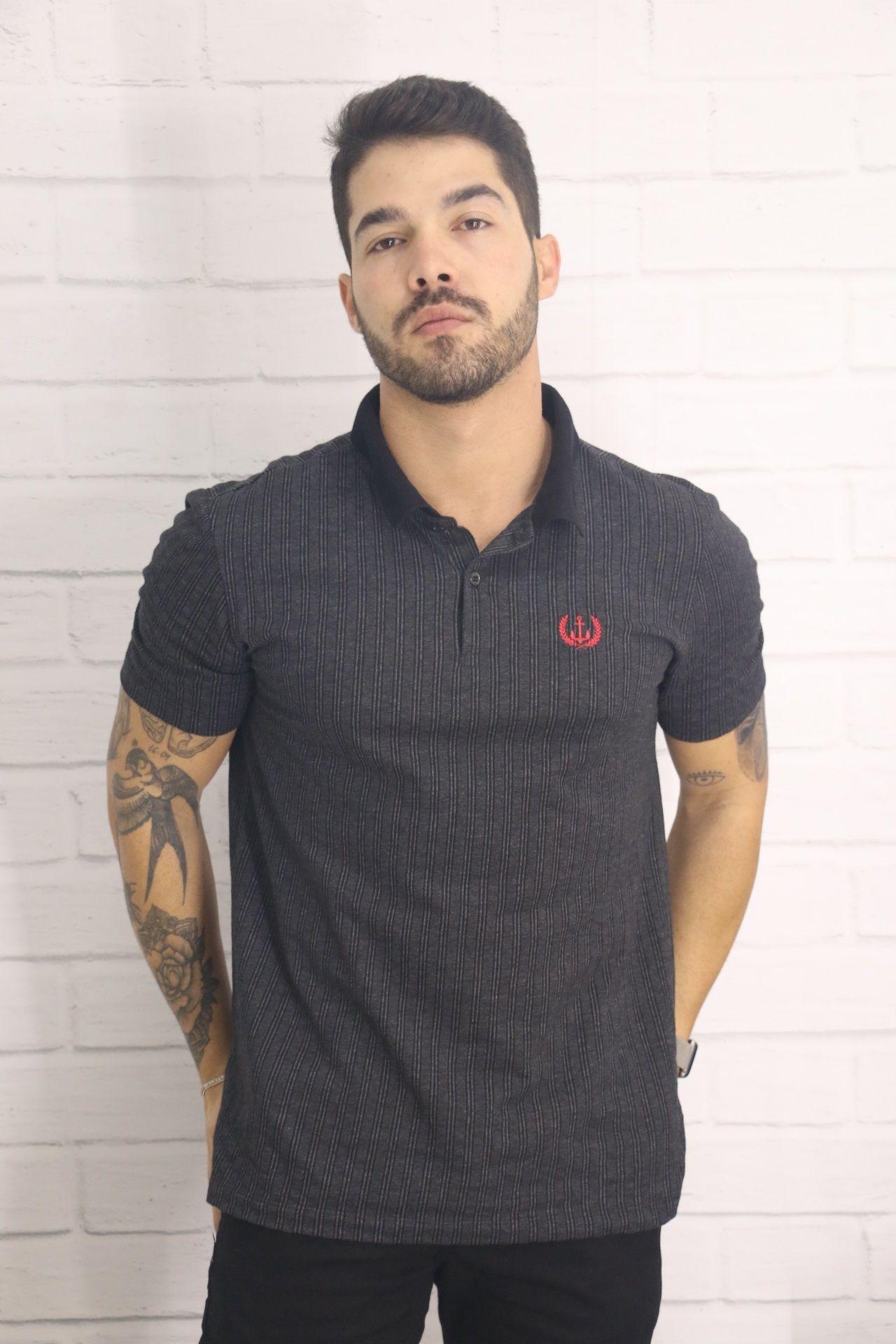 Camiseta Gola Polo Listrada Eros Camiseteria
