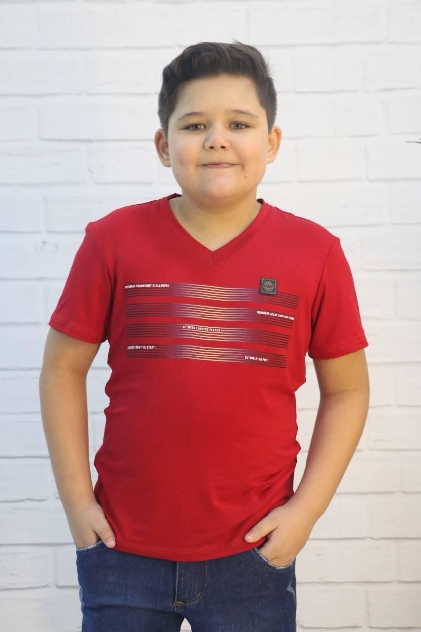 Camiseta Vermelha com Viscose e Elastano LAF