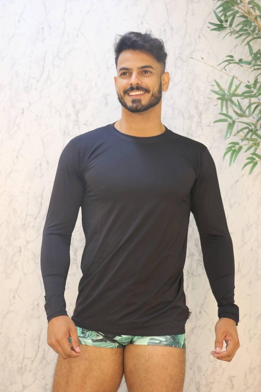 Camiseta Manga Longa com Proteção Solar UV 50 Tricarlo
