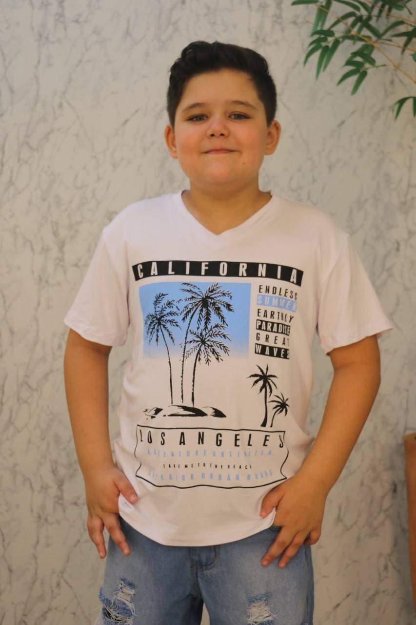 Camiseta Branca Deive Kids