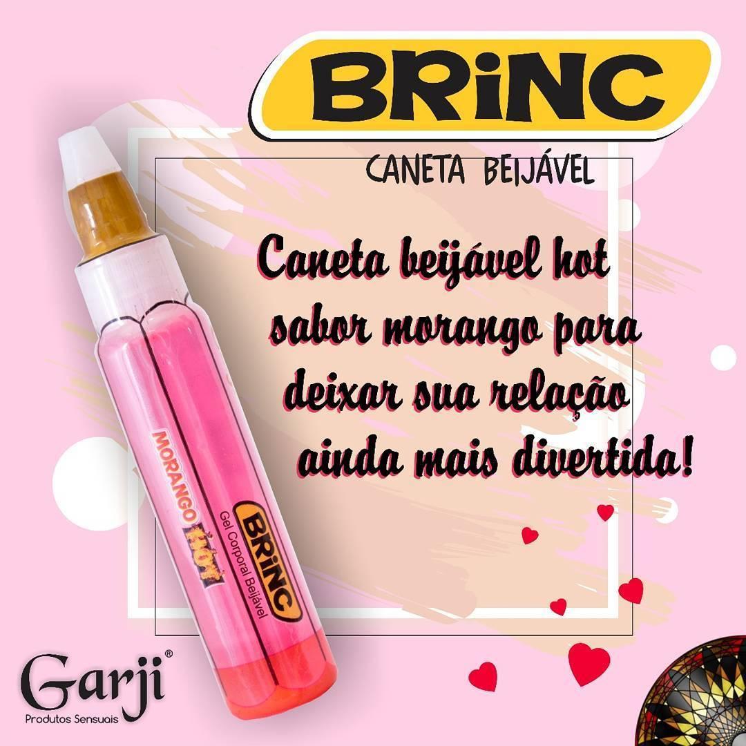 CANETA COMESTÍVEL BRINC MORANGO HOT GARJI - 280