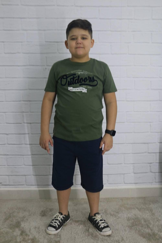 Conjunto Camiseta e Bermuda Infantil Crush Kids e Teens