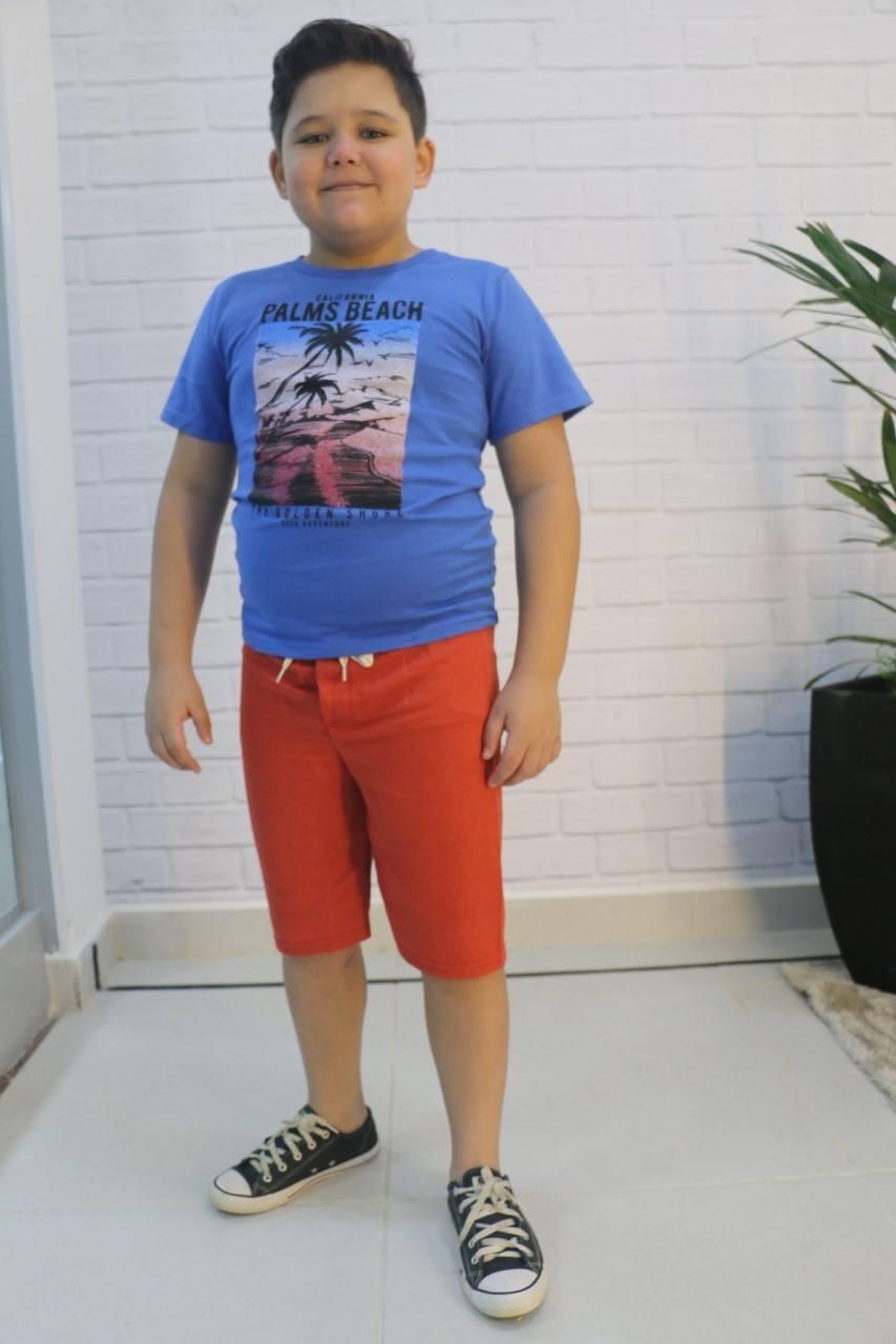Conjunto Camiseta e Short Moletinho Daj Kids