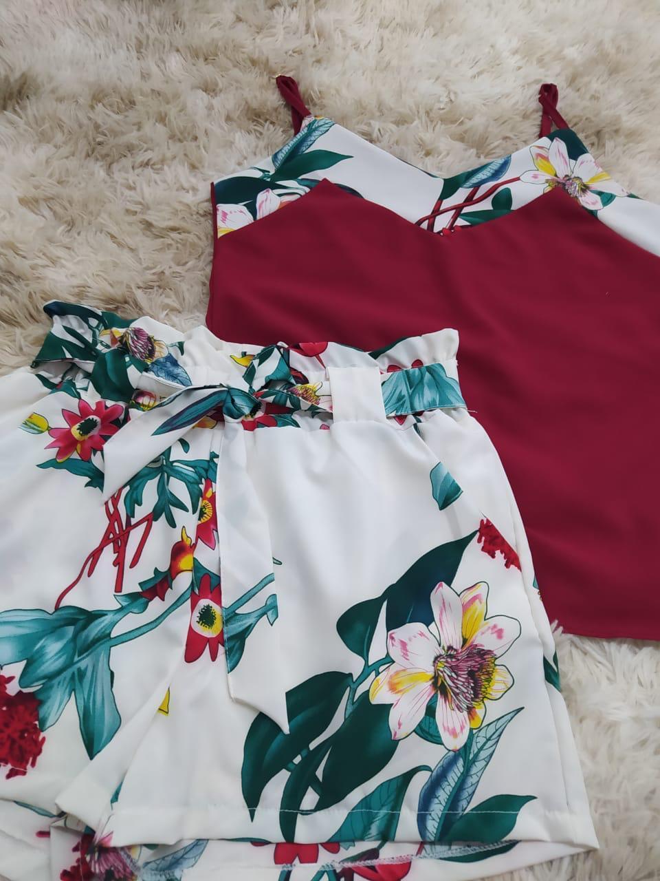 Conjunto de short e blusa - Neyde Moda