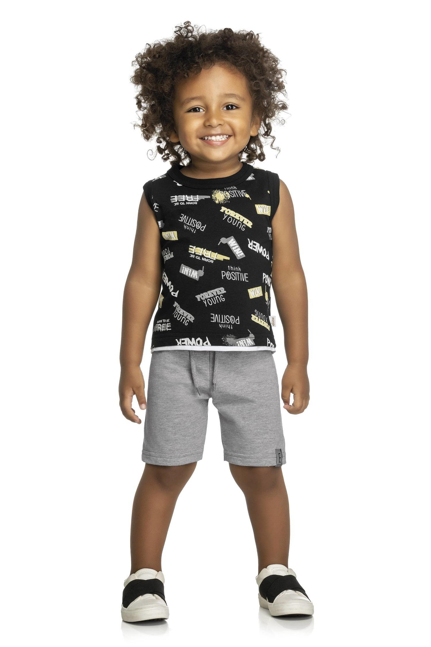 Conjunto Elian Masculino - Moda Mais Kids