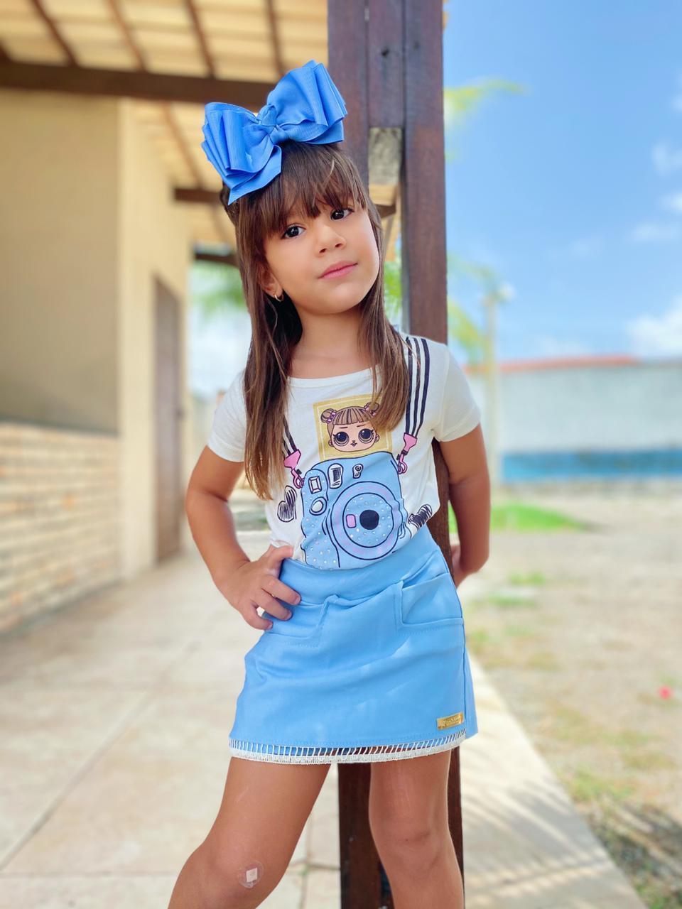 Conjunto Infantil Saia e Blusa Lol Passarinho Kids