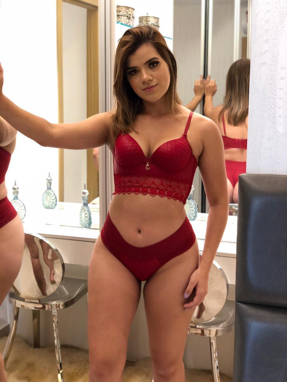 Conjunto lingerie couro - Thauanny lingerie